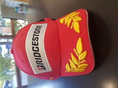 12 Bridgestone Caps Hats Red Mens Clothing F1 Formula 1 Racing Ferrari Mercedes