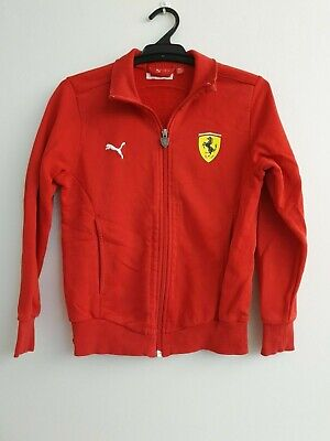 Boys PUMA Red Long Sleeve Zip Up Jacket - Size 14 - CLEARANCE