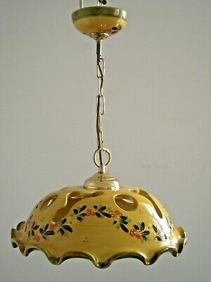 Beautiful Vintage French Country Ceramic Decorative Pendant Ceiling Light 1438