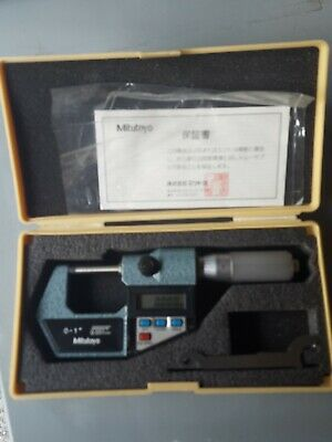 "Mitutoyo 293-766 Digital Micrometer 0-1"" 0-25mm 0.001mm .00005"" VGC"