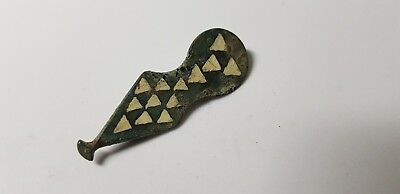 Roman Enamelled Brooch -Waterskin or Bota Bag  2nd 3rd century AD