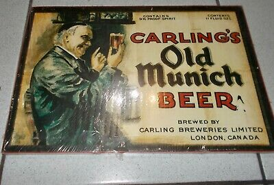 Stampa Su Legno Carling's Old Munich Beer  Pubblicita',Advertising,Poster, Plate