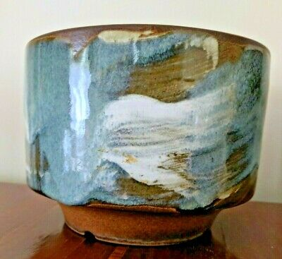 Pottery Craft USA  # 612 Planter, Vintage Hand Swirled Glaze Art Pot, Gorgeous.