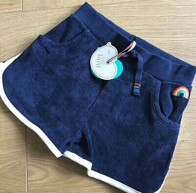 Little Bird By Jools Oliver Boys/Girls Navy Towelling Shorts 4-5 Years 🌈🍄 Bnwt