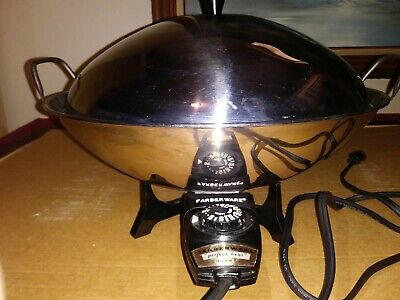 Farberware Model 303 Electric Wok Skillet ~ Perfect Heat Controller & Lid
