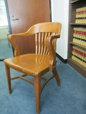 Vintage GUNLOCKE Bankers Barrister Courthouse Chair