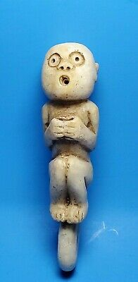 Pre-Columbian Mixtec Quartz Monkey Figure