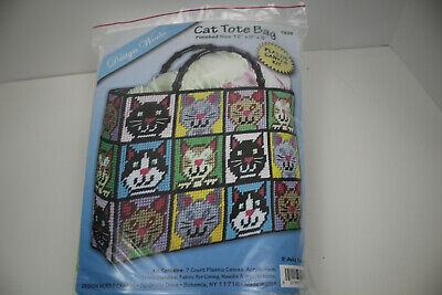 Cat Tote Bag..Design Works plastic canvas kit