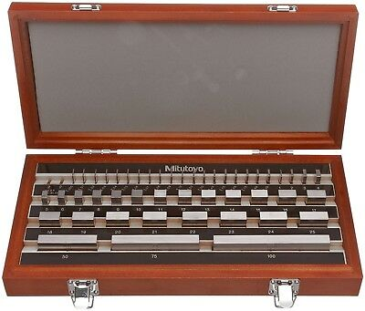 Mitutoyo Metric Calibration Steel Gage Gauge Block Set AS-2 1.005-100mm 47 Block