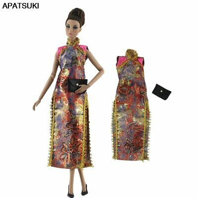 """Colorful Chinese Qipao Cheongsam Dress For 11.5"""" 1/6 Doll Clothes Gown Outfits"""