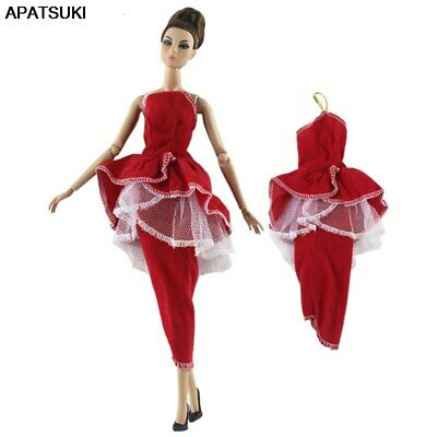 "Red Fashion Doll Clothes For 11.5"" Doll Dress Gown 1/6 Party Dresses Outfits Toy"