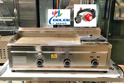 "NEW 40"" Outdoor Griddle Fryer Counter Top Taco Grill Burger Fries Propane Use"
