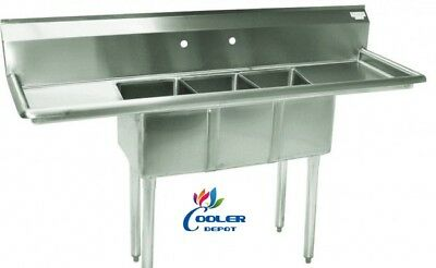 54 Stainless Steel One Compartment Commercial Nsf