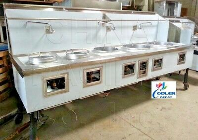 NEW Commercial 5 Hole Wok Range Chinese Cuisine Restaurant NSF Certified