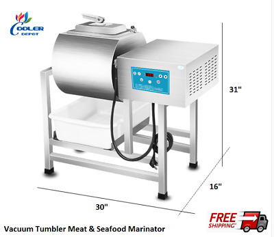 NEW Vacuum Meat Seafood Tumbler Marinator Mixer Machine S/S Commercial Use