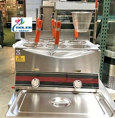 NEW 6 Basket Noodle Pasta Cooker Commercial Stainless Steel Gas Propane Use PN6