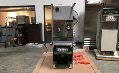 Boba Sealing Machine Semi Automatic Electric Sealing Machine Cup Sealer Boba Tea