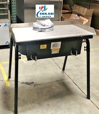 """New 30"""" Outdoor Flat Top Griddlew 2 Burner Stove Taco Meats BBQ Breakfast Grill"""
