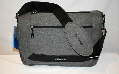 Columbia Diaper Bag Departure Point Design Messenger Baby Bag Changing Pad Gray