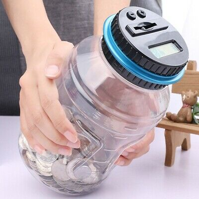 New Electronic LCD Coin Money Counting Jar Box Saving Digital Piggy Bank Useful