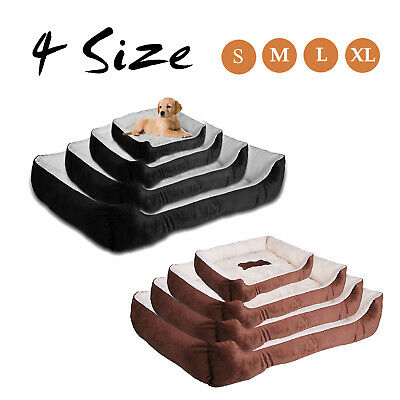 Acornpets Small To Extra Large XL Brown/Black 4 Size Dog Bed Cat Puppy Pets Bed