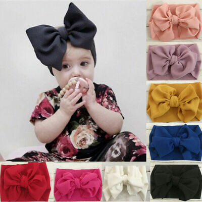 Girl Kids Baby Toddler Infant Flower Big Bow Ribbon Headband Hair Band Headwear