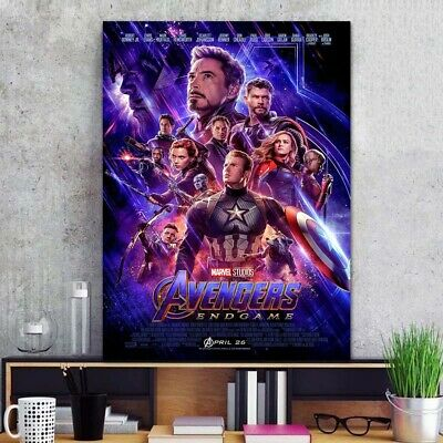 "Avengers Endgame Poster 24x36"" 24x32"" 20x30"" Movie 2019 Film End Game Print/Silk"