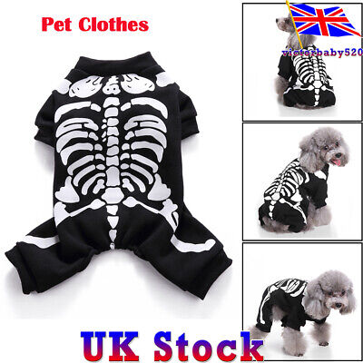 Halloween Pet Dog Cat Clothes Costume Horror Skeleton Chihuahua Clothing Dress