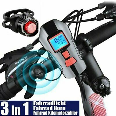 New USB Rechargeable LED MTB Bike Bicycle Cycle Head Front Light Lamp Set AU