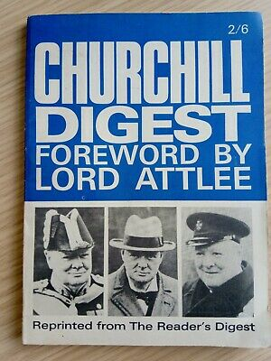 Winston Churchill Digest. Forword By Lord Attlee. Politician. Paperback Book