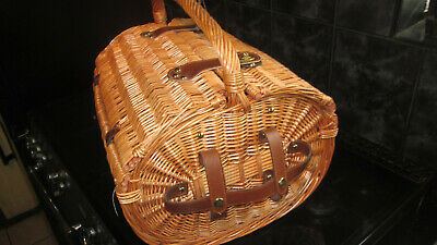 Wicker Picnic Basket Dome Shape Yizhan 45X38Cm New