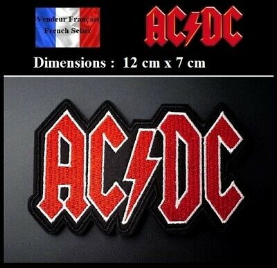 Écusson Brodé Thermocollant NEUF ( Patch Embroidered ) - AC / DC ACDC ( Ref 4 )