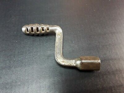Antique Cast Iron Wood or Coal Stove Ash Grate Shaker Crank Handle - small size