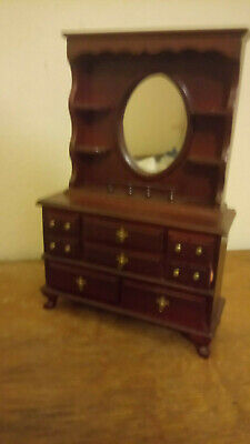 1/12th scale Dolls Furniture  Mahogany Sideboard