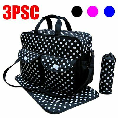 3Pcs Baby Diaper Nappy Mummy Changing Bag Mat Set Multi-Function Hospital Bag r8