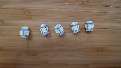 5 DEL Lamps Sansui qrx-9001 receiver for dial panel, meters bulbs lights