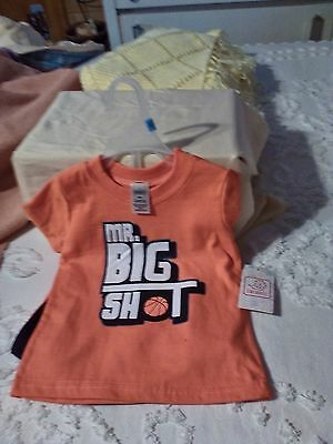 """Mr.Big Shot"" Basketball OUTFIT Size 12M 2Pc Set NEW WITH TAGS"