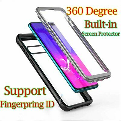 For Samsung Galaxy S10 S9 S8 Plus Built-in Screen Protector Case Cover Skin