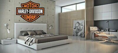 Harley Davidson Orange Bar & Shield Extra Large Trailer Decal Sticker Wall Mural