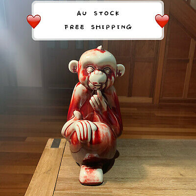 Ceramic Handmade Monkey Figurine Statue Ornament Sculpture Decor Craft MK1