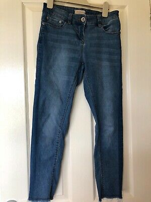 Older Girls Next Light Blue Denim Trousers 12 Yrs 152 Height