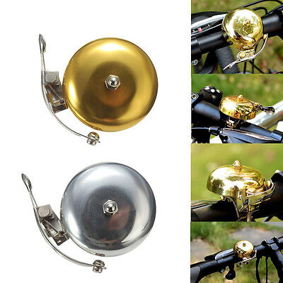 Cycle Push Ride Bike Loud Sound One Touch Bell Vintage Bicycle Handlebar FES