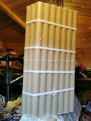 480 CARDBOARD STRONG TUBES + ENDS CAPS 33cm long X 0.40 (40mm)