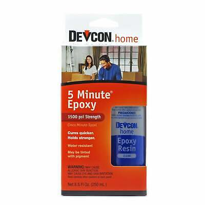 Devcon 20945 5 Minute Epoxy Rapid Curing & Water Resistant 250 ml (8.5 Fl. Oz.)