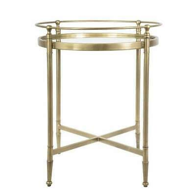 Sally Mirrored SideTable Antique Brass