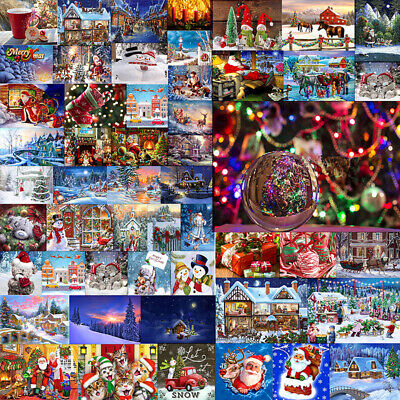 Full Drill Christmas 5D Diamond DIY Painting Embroidery Cross Stitch Craft  Home