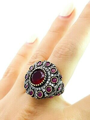 Last>>> Turkish Ottoman Jewelry From Grand Bazaar  Antique Silver Ring R1305