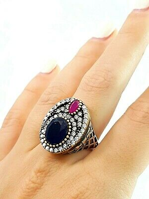 Turkish Ottoman Jewelry From Grand Bazaar Antique Silver Ring Gift For Mom R1309