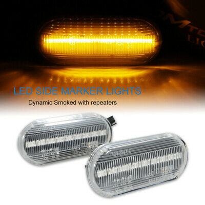 2× LED Side Marker signal Light Indicator Repeaters For VW T5 & T5.1 Transporter