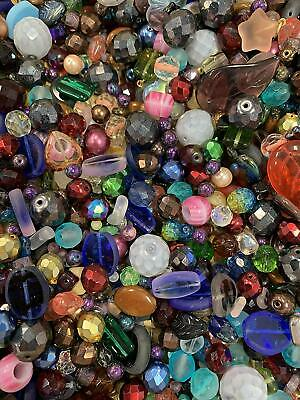 Czech Glass Beads Mix, 4-18mm, Assorted Colors and Shapes, Bulk Lot ModeBeads